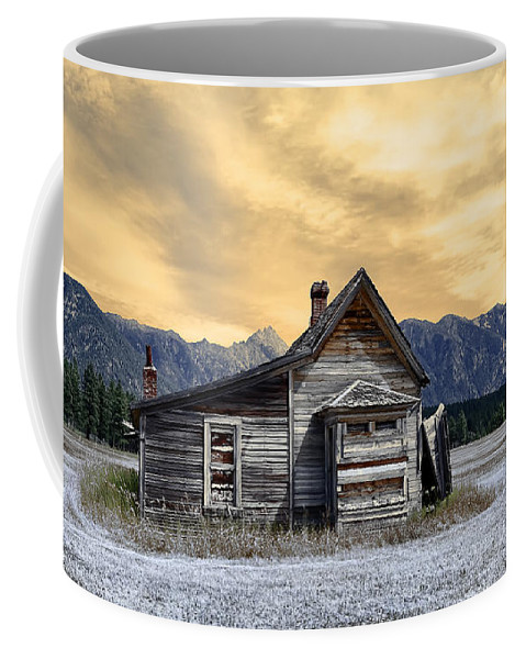 Architecture Coffee Mug featuring the photograph Little House On The Prairie by Wayne Sherriff