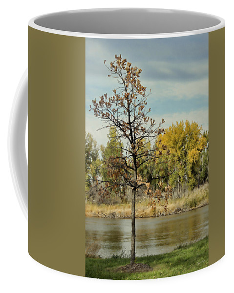 River Coffee Mug featuring the photograph Little Oak by Sylvia Thornton