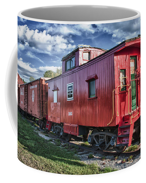 Guy Whiteley Photography Coffee Mug featuring the photograph Little Red Caboose by Guy Whiteley