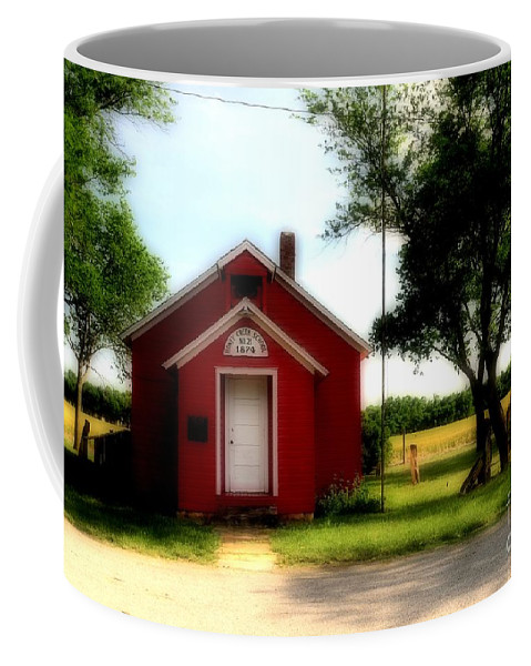#red #schoo # Coffee Mug featuring the photograph Little Red School House by Kathleen Struckle