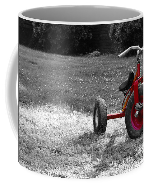Tricycyle Coffee Mug featuring the photograph Little Red Trike by Jai Johnson