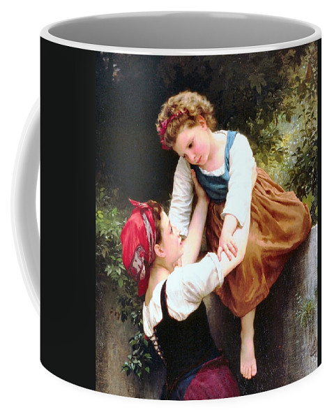 Little Thieves Coffee Mug featuring the digital art Little Thieves Details by William Bouguereau