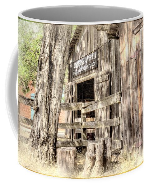 Livery Coffee Mug featuring the digital art Livery by Georgianne Giese