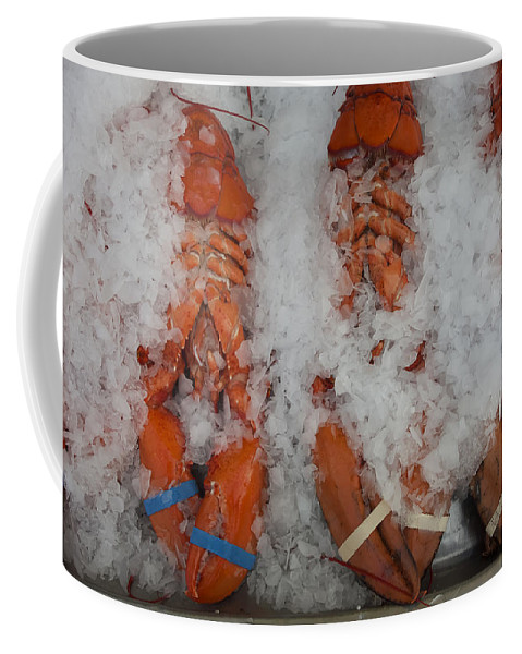 Essex Coffee Mug featuring the photograph Lobster At Woodman's by David Stone