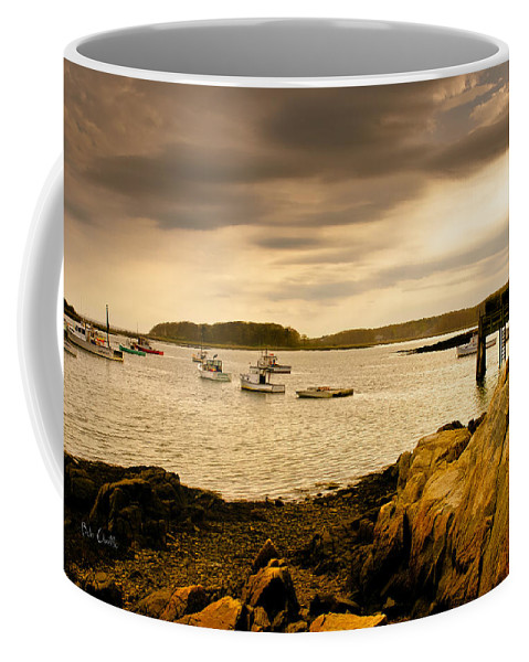 Atlantic Ocean Coffee Mug featuring the photograph Lobster Boats Cape Porpoise Maine by Bob Orsillo