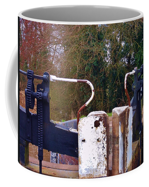 Lock Coffee Mug featuring the photograph Lock Gates by Malcolm Snook
