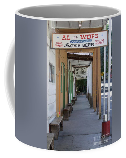 Al The Wops Coffee Mug featuring the photograph Locke Chinatown Series - Main Street - 7 by Mary Deal