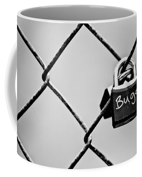 Lock Coffee Mug featuring the photograph Locked Together by Karol Livote