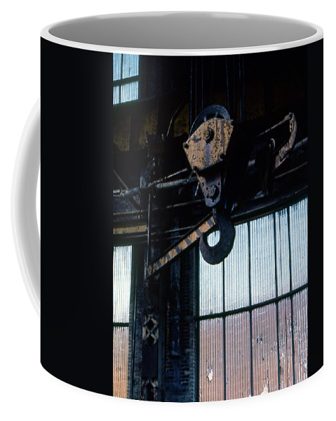 Hooks Coffee Mug featuring the photograph Locomotive Hook by Richard Rizzo