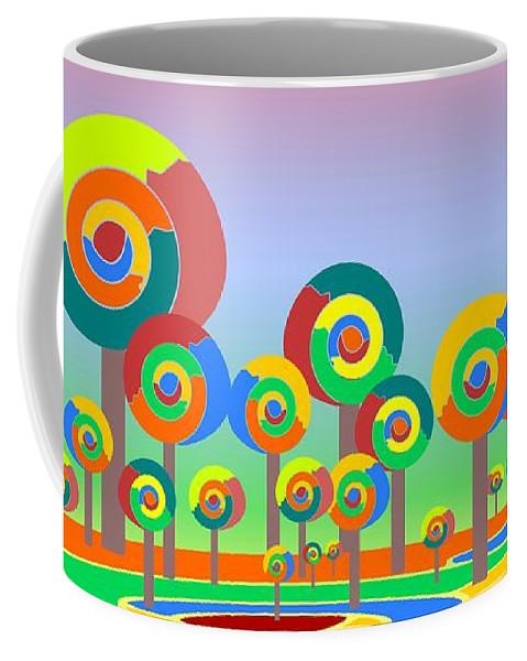 Malakhova Coffee Mug featuring the digital art Lollypop Island by Anastasiya Malakhova