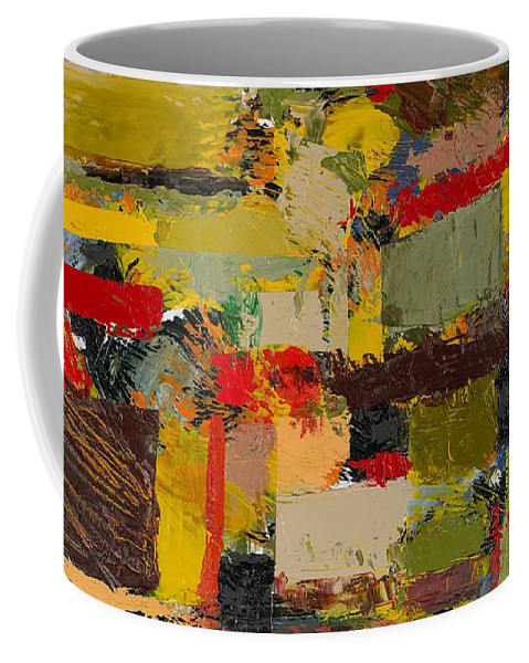 Landscape Coffee Mug featuring the painting Lombard At Fillmore by Allan P Friedlander