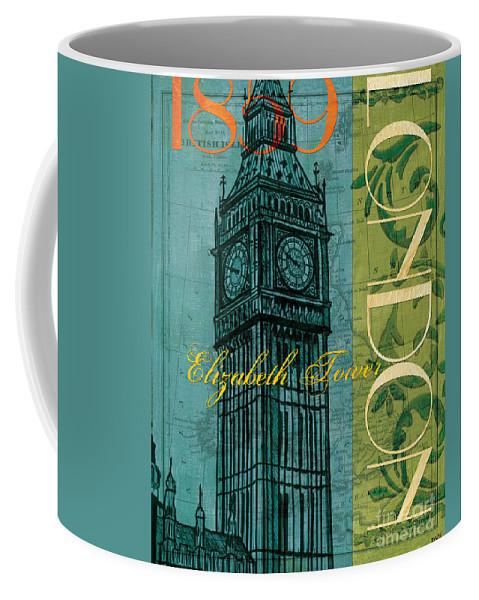 London Coffee Mug featuring the painting London 1859 by Debbie DeWitt