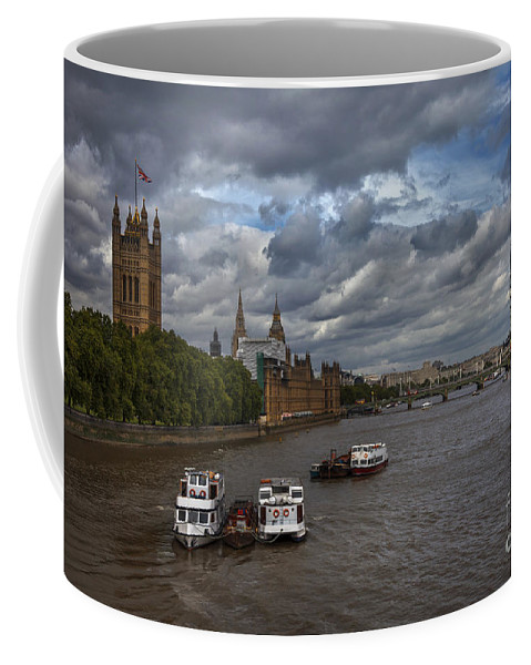 Architecture Coffee Mug featuring the photograph London's Thames River by Istvan Kadar