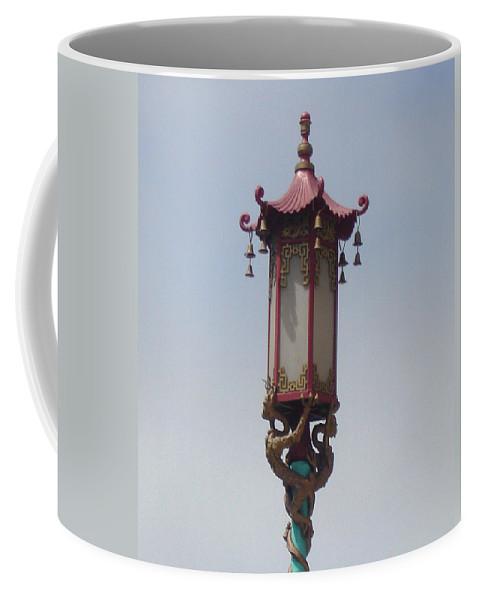 Lantern Coffee Mug featuring the photograph Lone Lantern by Lovina Wright