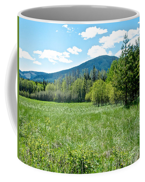 Lone Pine Prairie Coffee Mug featuring the photograph Lone Pine Prairie South Of Polebridge In Glacier Np- Mt by Ruth Hager