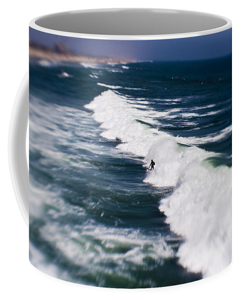 Surfer Coffee Mug featuring the photograph Lone Surfer by Scott Pellegrin