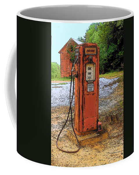 Digital Art Coffee Mug featuring the photograph Lonely Pump by Rodney Lee Williams