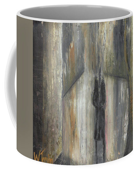 Alone Coffee Mug featuring the painting 'lonely Road Without Him' by Whitney Tomlin