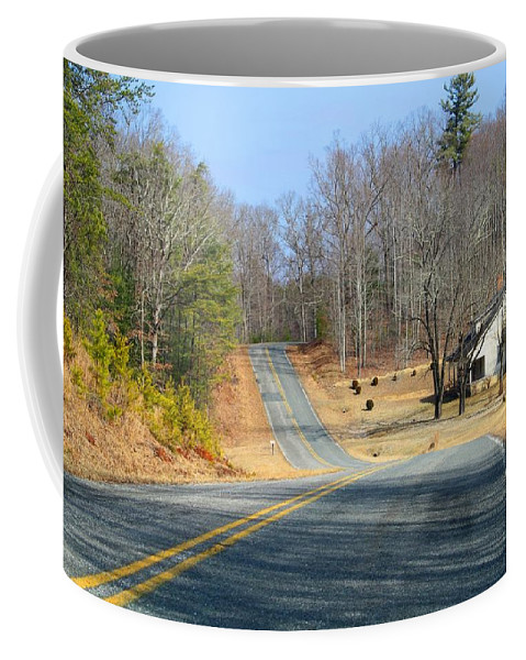 Landscape Coffee Mug featuring the photograph Long About Now by Kathryn Meyer
