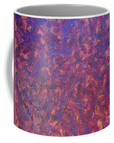 Abstract Coffee Mug featuring the painting Long Beach 5am by Dean Triolo