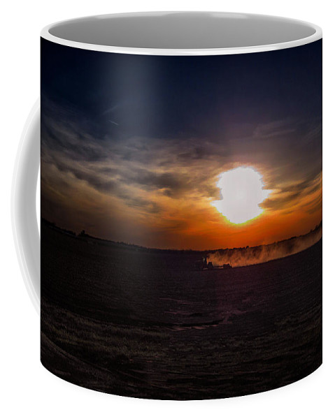 Farming Coffee Mug featuring the photograph Long Day In The Heartland by Tommy Anderson