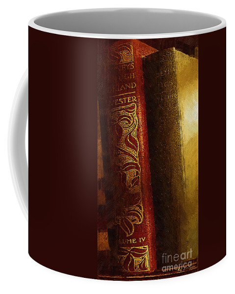 Antique Coffee Mug featuring the painting Long Out Of Print by RC DeWinter
