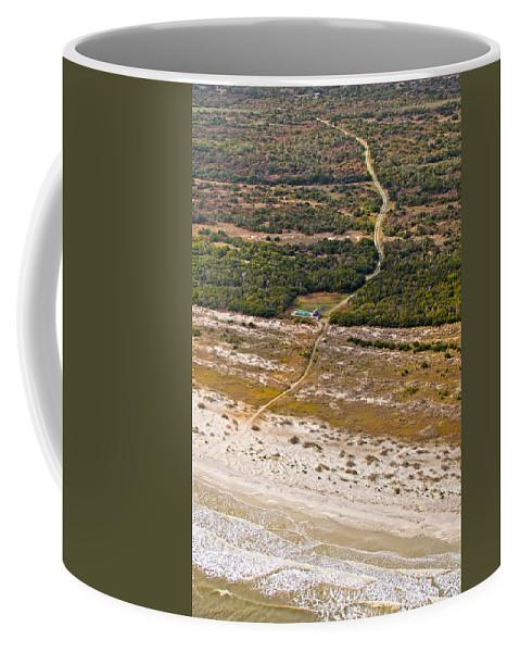 Jekyll Coffee Mug featuring the photograph Long Road To The Coast Near Jekyll Island by Betsy Knapp