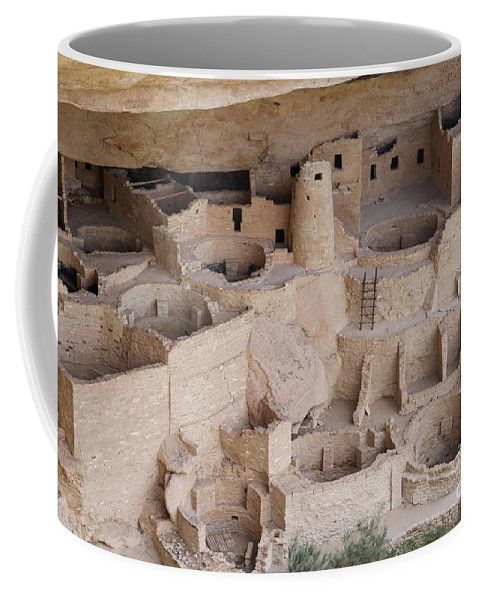 Spruce Tree House Coffee Mug featuring the photograph Long View Of Cliff Palace by Christiane Schulze Art And Photography