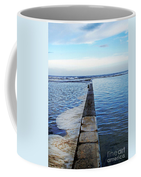 Photography Coffee Mug featuring the photograph Long View To The Ocean by Kaye Menner