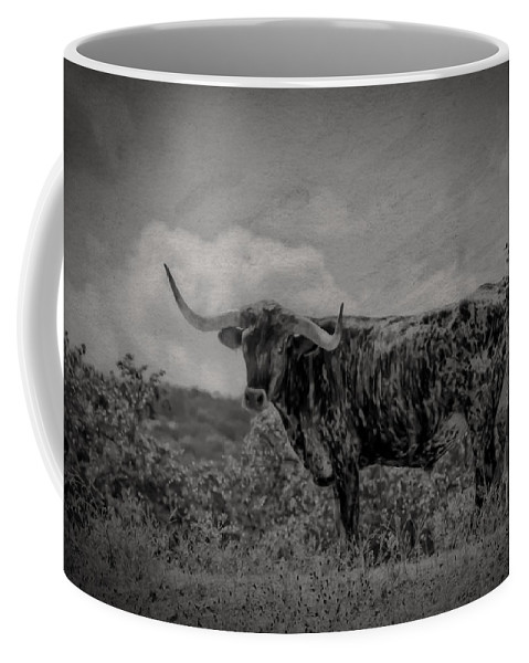 Longhorn Coffee Mug featuring the photograph Longhorn Of Bandera by Kim Henderson