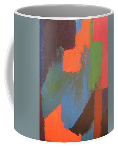 Abstract Coffee Mug featuring the painting Longing by Kimberly Maxwell Grantier