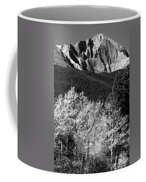 Longs Peak Coffee Mug featuring the photograph Longs Peak 14256 Ft by James BO Insogna