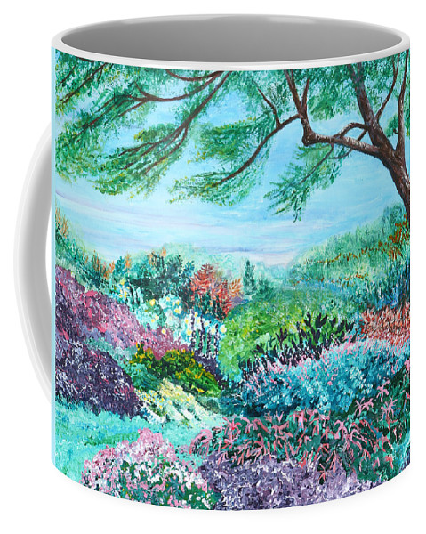 Longwood Coffee Mug featuring the painting Longwood Gardens by Aine Khell