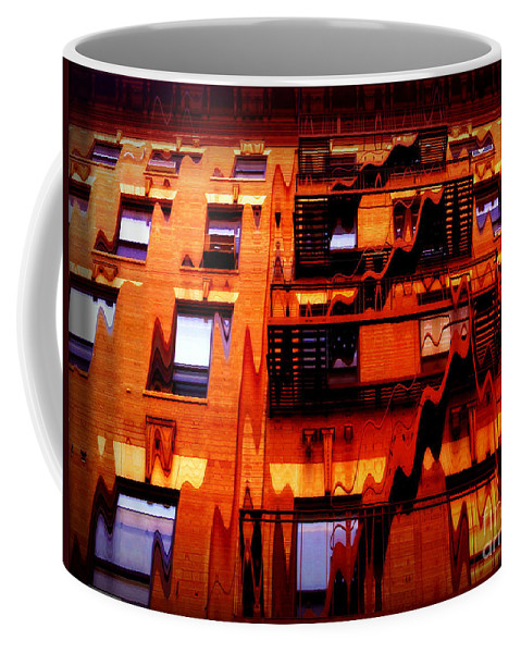 Abstract Coffee Mug featuring the photograph Look Again by Miriam Danar