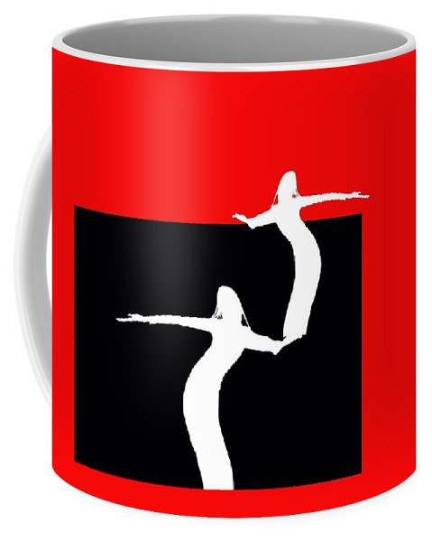 Red Coffee Mug featuring the digital art Look Out by Cleotha Williams