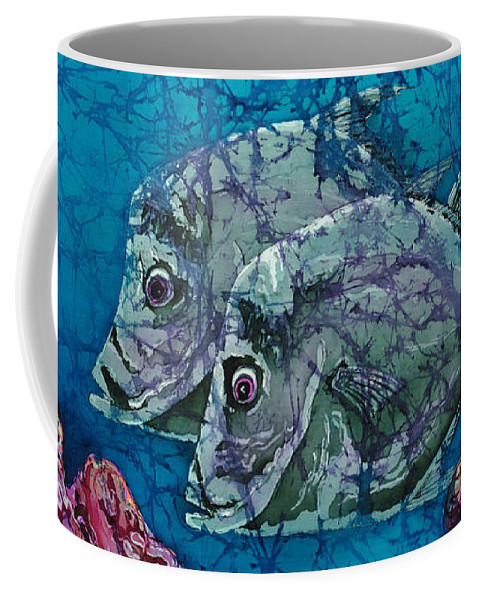 Lookdowns Coffee Mug featuring the painting Lookdowns Pair by Sue Duda