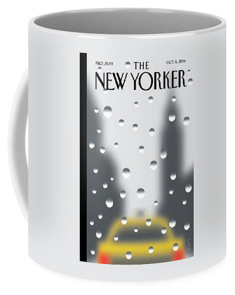 Rain Coffee Mug featuring the painting Rainy Day by Christoph Niemann