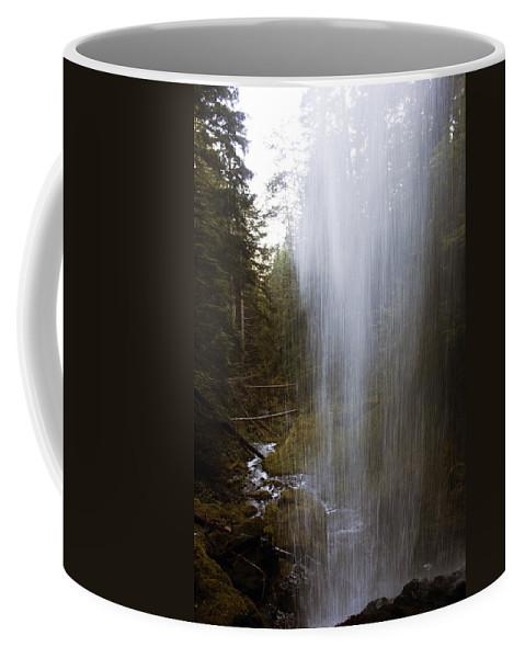 Angel Falls Coffee Mug featuring the photograph Looking Through Angel Falls by Edward Hawkins II