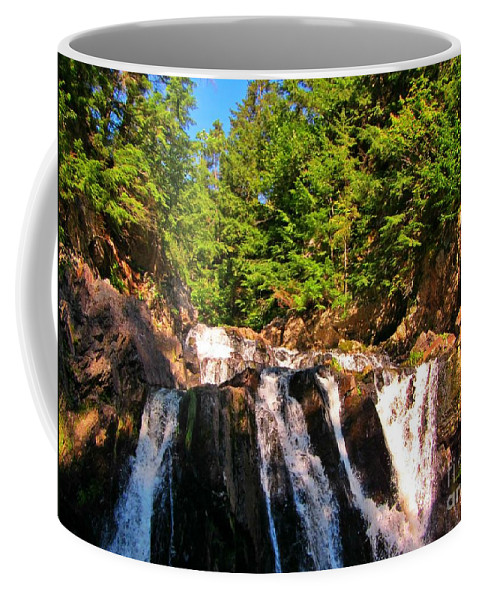 Waterfall Prints Coffee Mug featuring the photograph Looking Up At Victoria Falls by John Malone