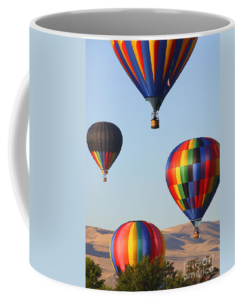 Hot Air Balloon Coffee Mug featuring the photograph Looking Up by Carol Groenen