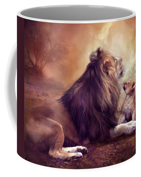 Carol Cavalaris Coffee Mug featuring the mixed media Looking Upward by Carol Cavalaris