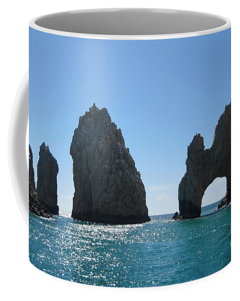 Waterscape Coffee Mug featuring the photograph Los Archos by Bob Hislop