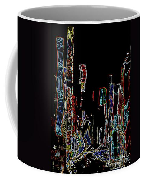 Digital Art Coffee Mug featuring the digital art Losing Equilibrium - Abstract Art by Carol Groenen