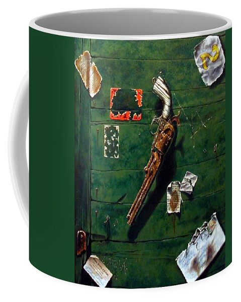 Trompe Le Oil Coffee Mug featuring the painting Lost And Found by Jim Gola