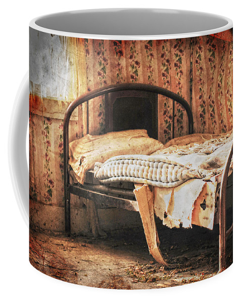 Bed Coffee Mug featuring the photograph Lost Dream by The Artist Project