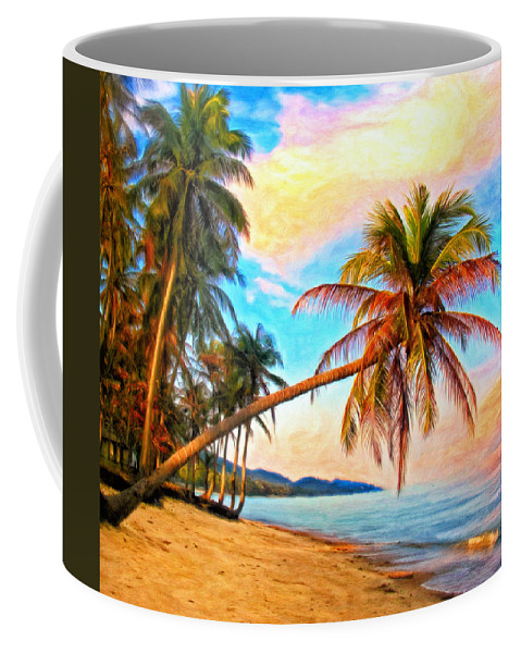 Hawaii Coffee Mug featuring the painting Lost In Paradise by Michael Pickett