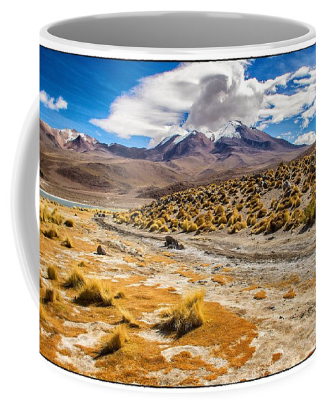 Lagoon Coffee Mug featuring the photograph Lost In The Bolivian Desert Framed by For Ninety One Days