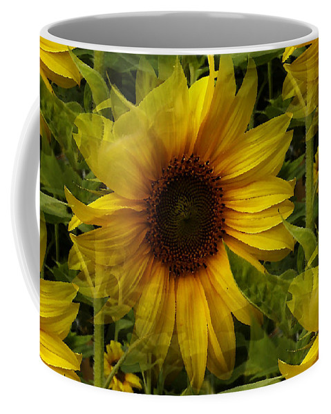 Sunflower Coffee Mug featuring the photograph Lost In The Crowd by Martin Howard