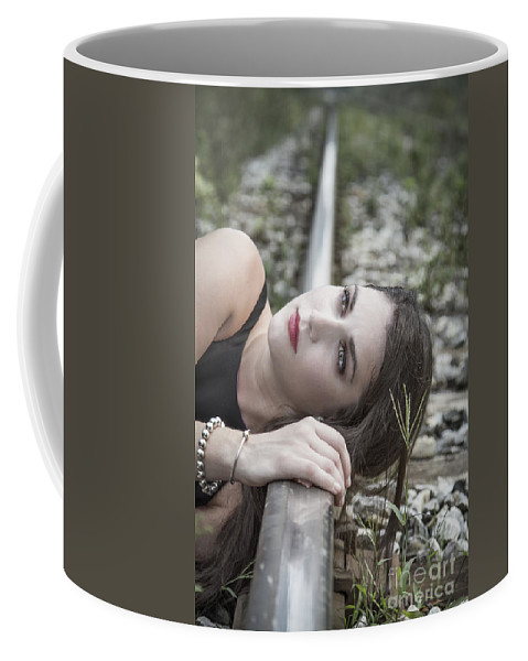 Girl Coffee Mug featuring the photograph Lost In The Echo by Evelina Kremsdorf