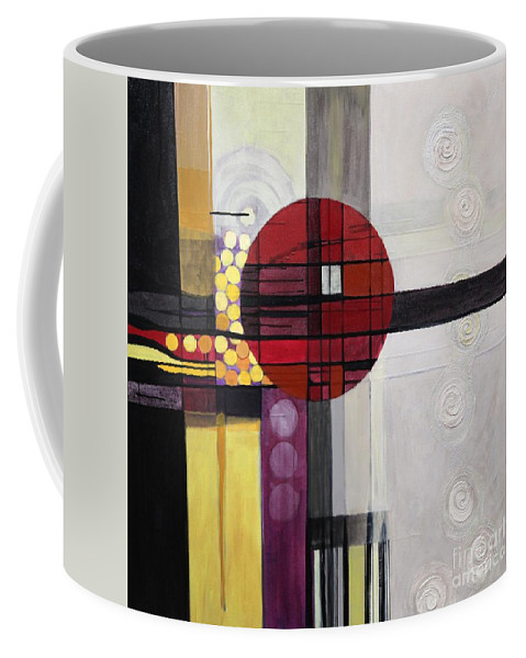 Abstract Coffee Mug featuring the painting Lost My Marbles by Marlene Burns